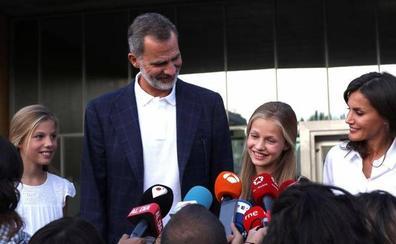 La princesa Leonor encuentra «muy recuperado y muy bien» a Don Juan Carlos