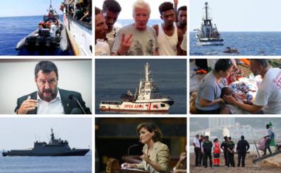 Cronología de la crisis humanitaria del Open Arms