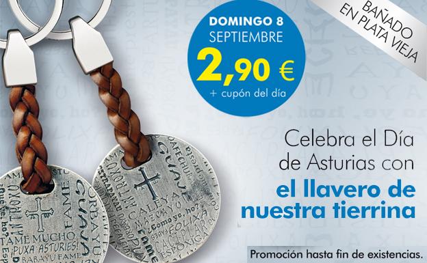 Celebra el Día de Asturias con el llavero de nuestra tierrina