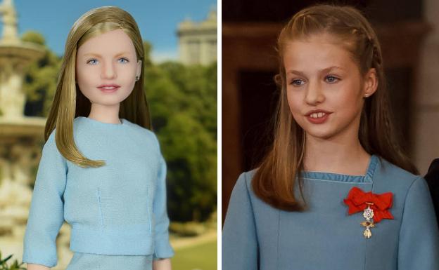 Dos jóvenes rusos crean una muñeca de la Princesa Leonor