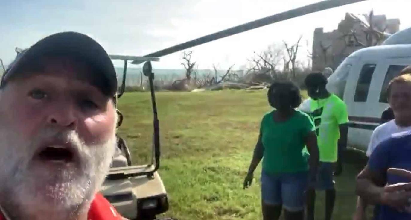 José Andrés lleva comida en helicóptero a pequeña isla de las Bahamas