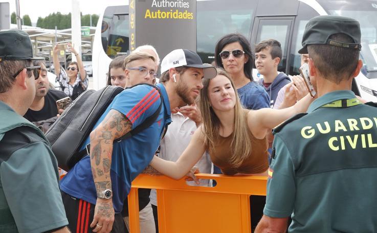 La Selección Española de Fútbol llega a Asturias para enfrentarse aIslas Feroe