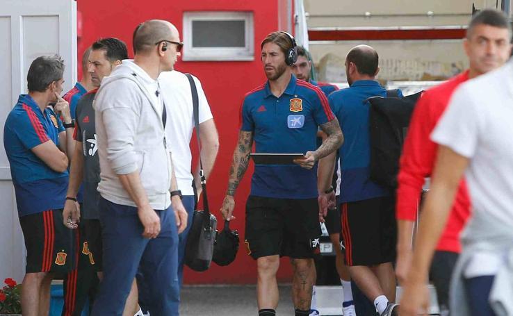 La Selección Española, en Mareo