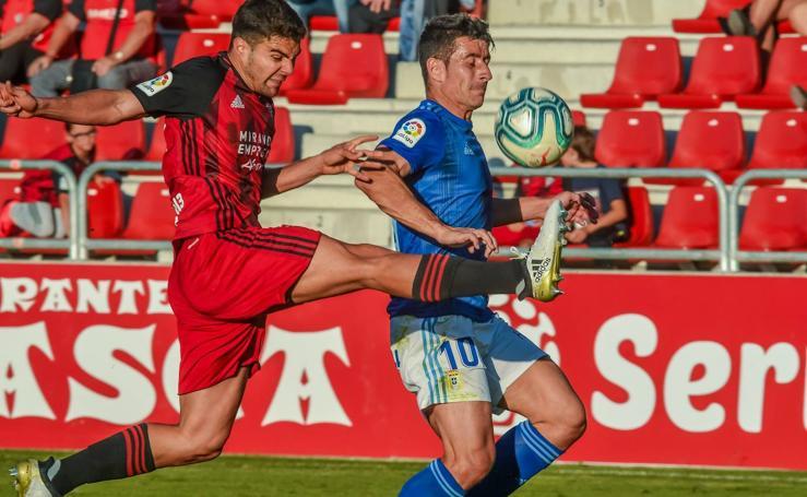 El Real Oviedo cae ante el Mirandés (2-1)