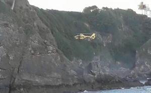 El helicóptero de Emergencias se moviliza por un perro en Candás