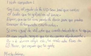 La conmovedora carta de un niño futbolista a otro al que lesionó en un partido