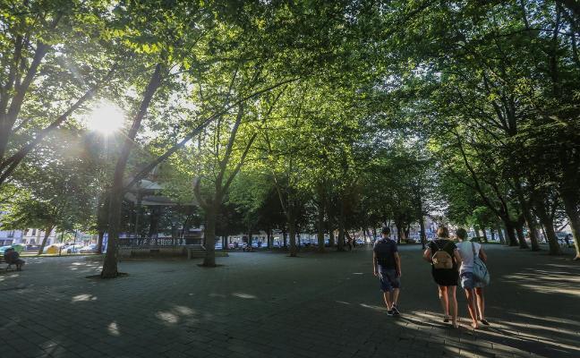 La solución para la histórica zona verde, el suelo a distintos niveles