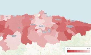 Castrillón y Las Regueras, los concejos con los hogares más ricos de Asturias; Peñamellera Alta y Onís, los más pobres