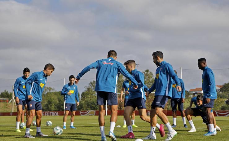 Entrenamiento del Sporting (13-09-2019)