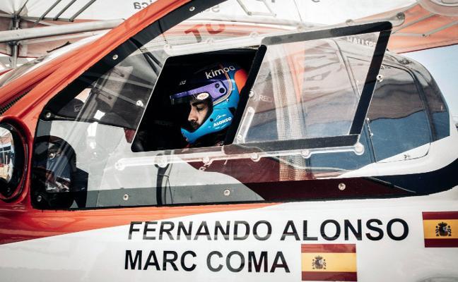 Alonso arranca su aventura en los raids con buenas sensaciones