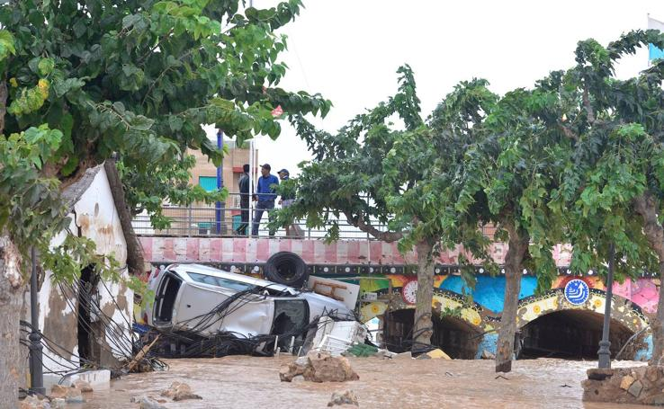 La impresionante inundación en Los Alcázares