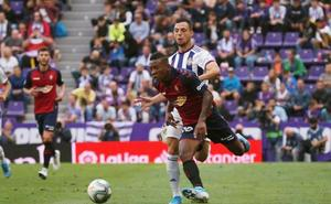 Valladolid y Osasuna firman tablas en un partido muy igualado