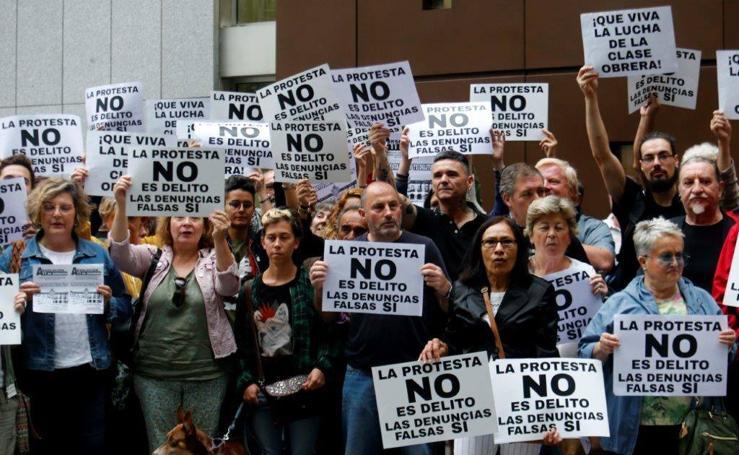 Protesta sindical de apoyo a los acusados del hotel Reconquista