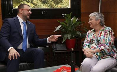 La alcaldesa de Gijón, segura de que «en estos cuatro años veremos la ZALIA funcionando»