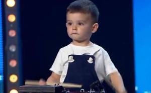 A sus dos años, Hugo y su tambor impresionaron al jurado «Got Talent»