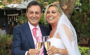 José Ribagorda y Loles Silva se dan el 'sí, quiero' en una romántica boda