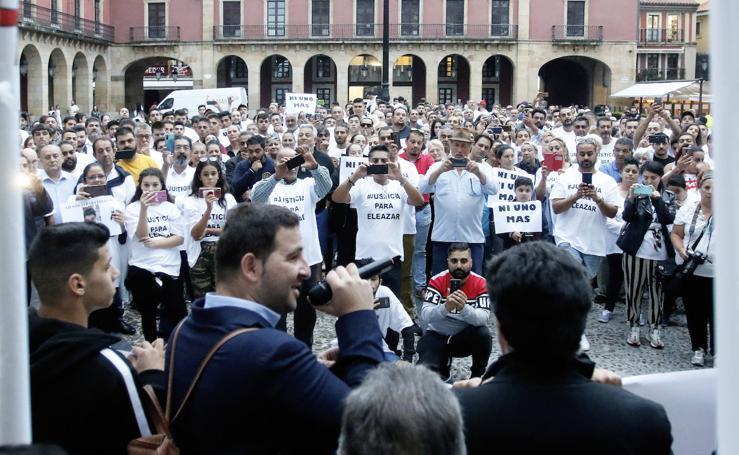 Manifestación en Gijón para pedir justicia por Eleazar