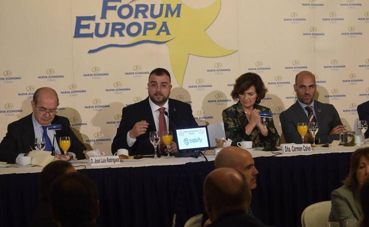 Adrián Barbón interviene en el Fórum Nueva Economía