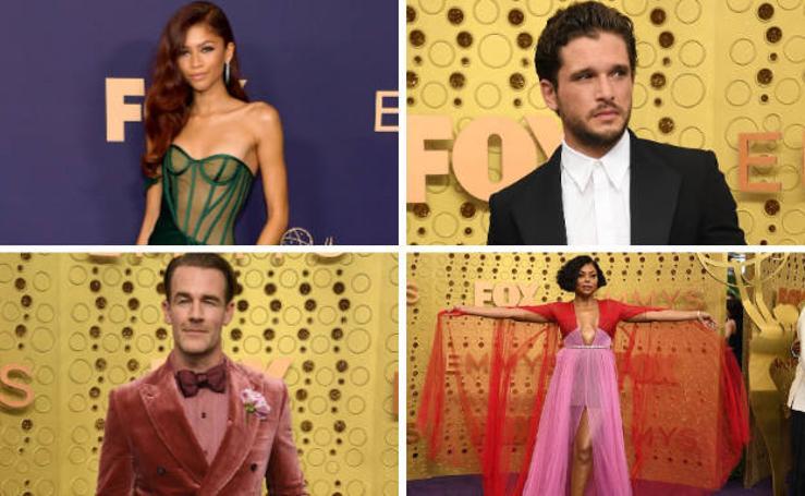 Las estrellas de la televisión desfilan en los Emmy