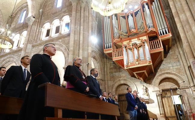 La nueva iluminación de la basílica de Covadonga supondrá un ahorro del 70%