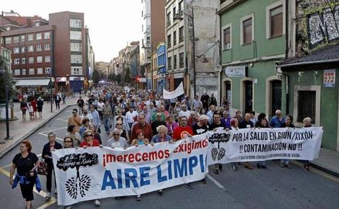 Gijón se moviliza contra la polución