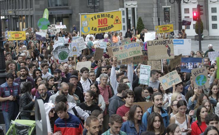 Protestas en Asturias por el cambio climático