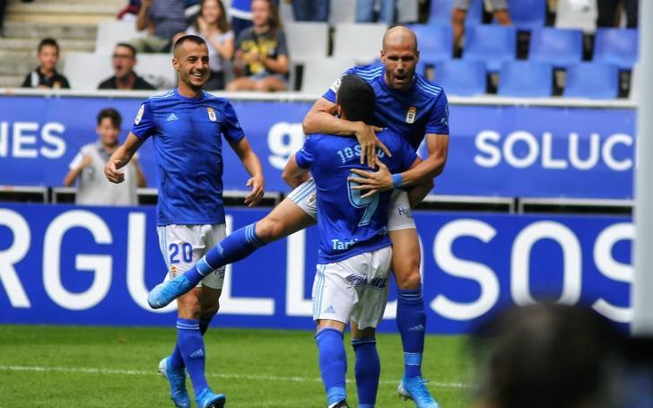Real Oviedo 2 - 2 Zaragoza, en imágenes