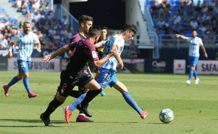 Málaga 0 - 0 Sporting, en imágenes