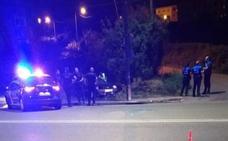 Se empotra contra una farola de la avenida Gijón cuando huía de la Policía Nacional