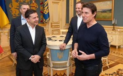 Tom Cruise visita a Zelenski en medio de la polémica con Trump