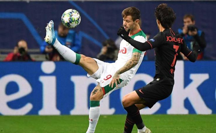 Las mejores imágenes del Lokomotiv-Atlético