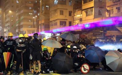 La Policía ya reprime a tiros las protestas en Hong Kong