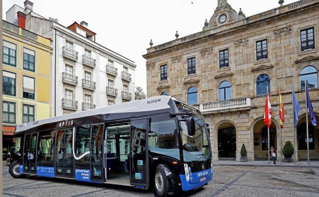 La línea circular del centro a Cimavilla opta a estrenar los viajes en autobús eléctrico