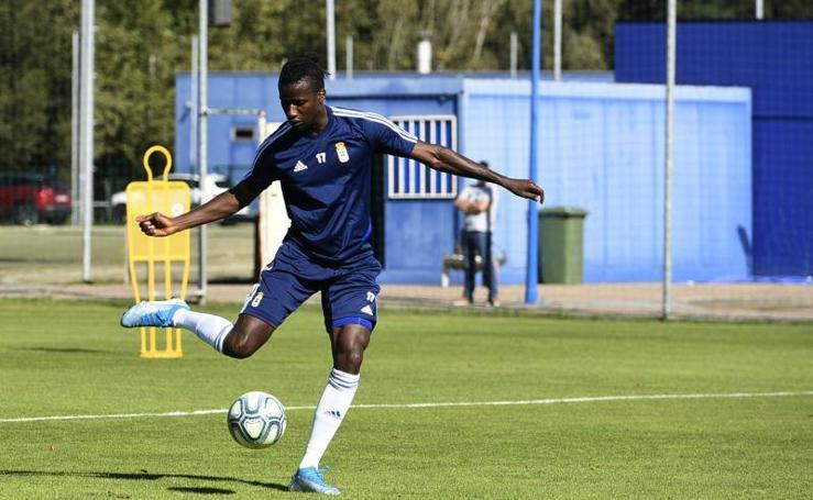 Entrenamiento del Real Oviedo del 3 de octubre de 2019