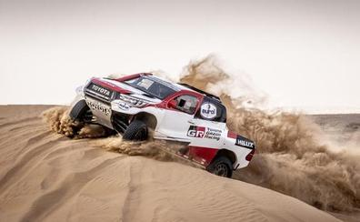 La arena de Marruecos mide al Alonso dakariano