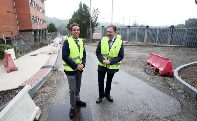 El nuevo acceso a las pistas de San Lázaro estará listo antes de fin de mes