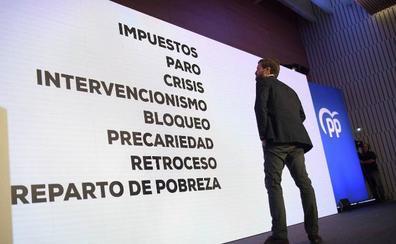 Casado vincula al PSOE con la crisis y presenta al PP como la solución económica
