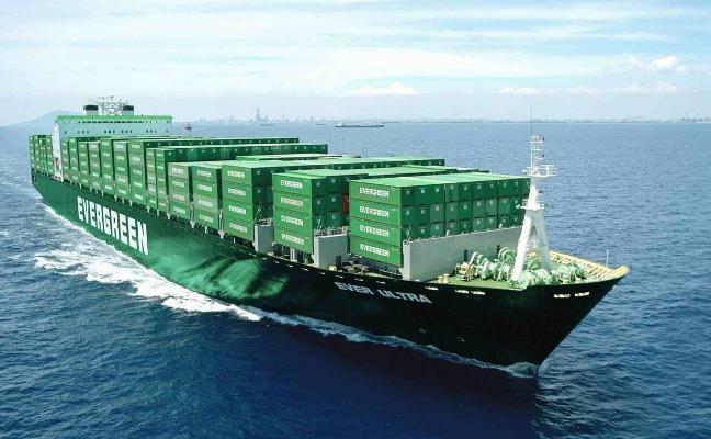 La naviera Evergreen creará en El Musel una ruta semanal al norte de Europa