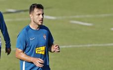 Sporting: Traver, duda para el partido frente al Alcorcón por un esguince en la rodilla