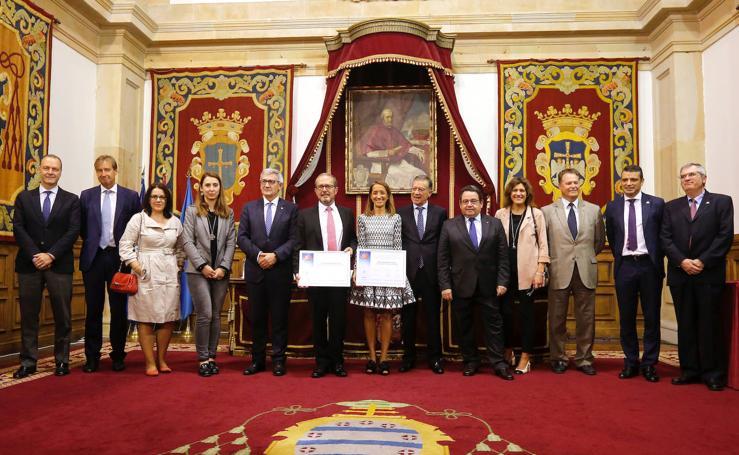 Fernando Alonso y Lucía García-Linares, ingenierios del año en Asturias
