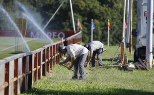 Obras para instalar banquillos en el número 5 de Mareo