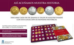 Colección de monedas históricas