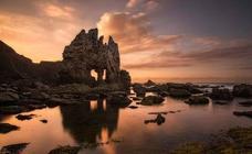 Una playa asturiana, entre los mejores atardeceres de España