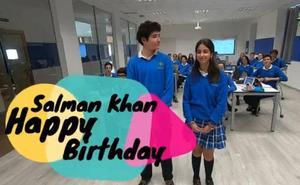 Premios Princesa de Asturias | La felicitación de cumpleaños del colegio La Inmaculada a Salman Khan