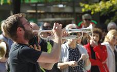 'Gdansk Downtown Brass', en el Paseo de Begoña