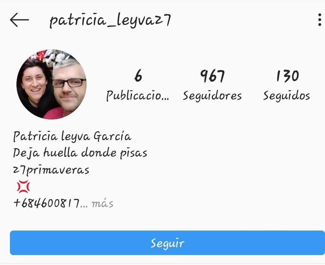 La presidenta de El Marapico denuncia una nueva falsificación de un perfil suyo en Instagram