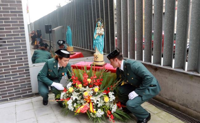 La Guardia Civil festeja el Pilar «sin noticias» del nuevo cuartel de Mieres