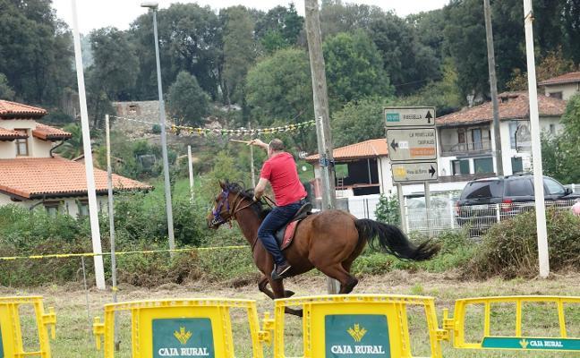 Destreza sobre caballos en Posada