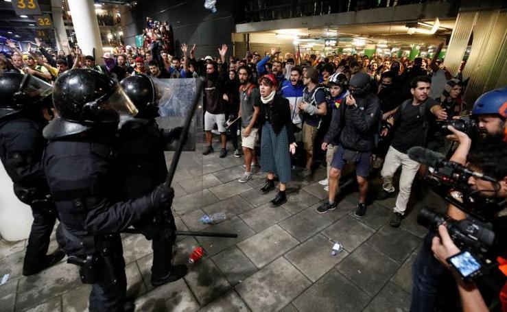 Protestas en Cataluña al conocerse la condena de los líderes independentistas