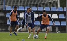 Entrenamiento del Real Oviedo (14-10-2019)